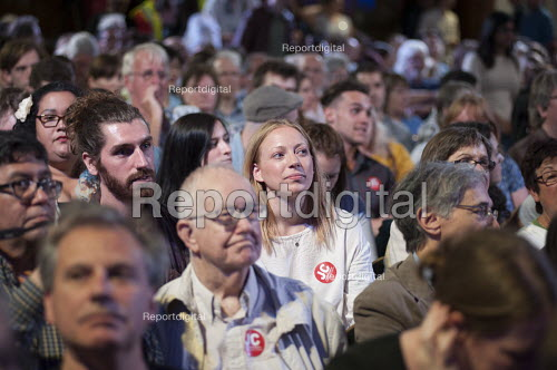 Grassroots for Jeremy. 1500 people attend a rally in support of Jeremy Corbyn for Labour Leader. Camden Centre, London. - Philip Wolmuth - 2015-08-03