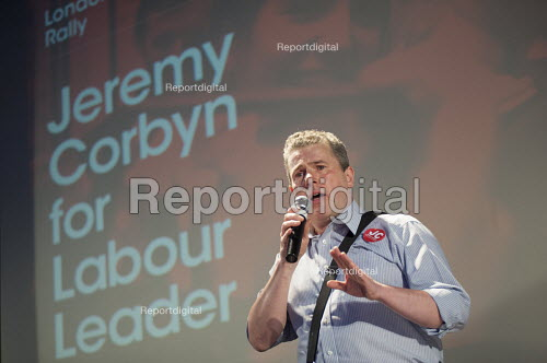 Mark Serwotka, PCS. Grassroots for Jeremy. 1500 people attend a rally in support of Jeremy Corbyn for Labour Leader. Camden Centre, London. - Philip Wolmuth - 2015-08-03