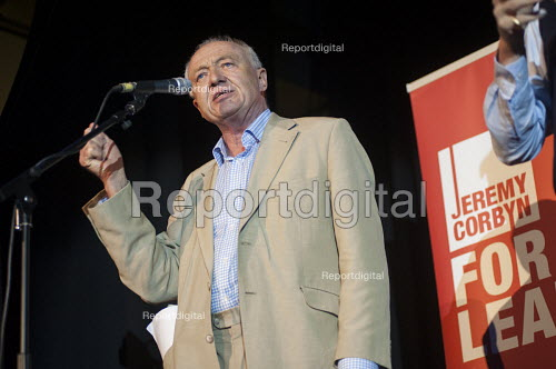 Ken Livingstone, Grassroots for Jeremy. 1500 people attend a rally in support of Jeremy Corbyn for Labour Leader. Camden Centre, London. - Philip Wolmuth - 2015-08-03