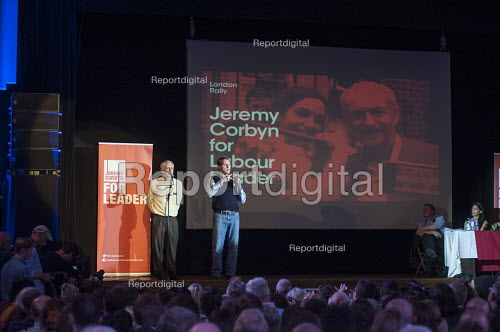Jeremy Corbyn. Grassroots for Jeremy. 1500 people attend a rally in support of Jeremy Corbyn for Labour Leader. Camden Centre, London. - Philip Wolmuth - 2015-08-03