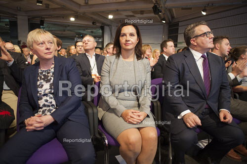 Angela Eagle Caroline Flint Tom Watson at Labour Party deputy leadership election Westminster London - Philip Wolmuth - 2015-09-12