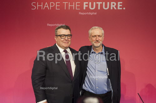 Tom Watson & Jeremy Corbyn win Labour Party leadership elections Westminster London - Philip Wolmuth - 2015-09-12