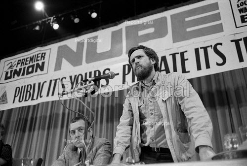 Jeremy Corbyn MP addresses the 1984 NUPE Annual Conference, Bournemouth - Philip Wolmuth - 1984-05-13