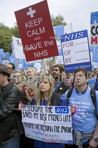 Lets Save Our NHS Junior doctors protest against new contracts London - Philip Wolmuth - 2015-10-17