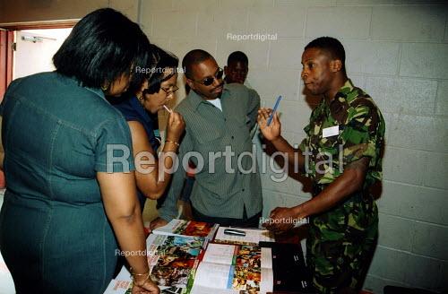 Army recruitment stall at community festival on Broadwater Farm Estate, North London - Joanne O'Brien - 20021024