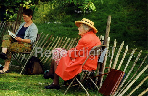 Elderly woman at Chelsea Flower Show London - Joanne O'Brien - 20021024