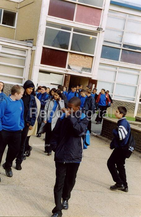 School kids in playground, Haringey, North London - Joanne O'Brien - 20021024