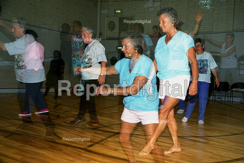 Elderly exercise class at leisure centre - Joanne O'Brien - 20021024