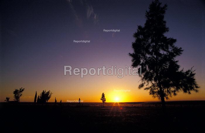 Summer Sunset on an Estancia in Uruguay. - Paul Mattsson - 1986-07-26