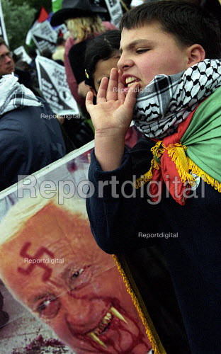 Palestinian demonstration against Israeli occupation - Paul Mattsson - 2002-05-18