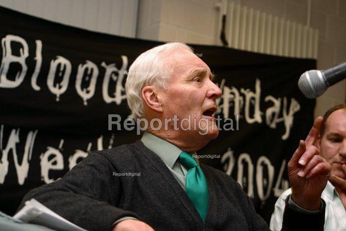 Tony Benn, guest speaker at Bloody Sunday 32nd Anniversary, Derry, Northern Ireland - Joanne O'Brien - 2004-01-24