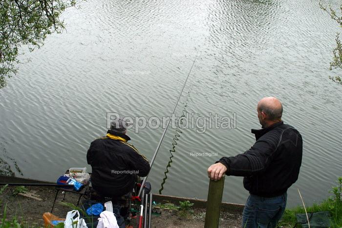 Fishermen fishing in a canal, London - Joanne O'Brien - 2004-05-05