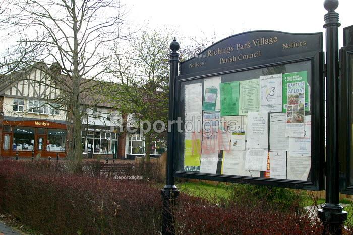 Paish Council noticeboard, Richings Park Village - Joanne O'Brien - 2004-04-24