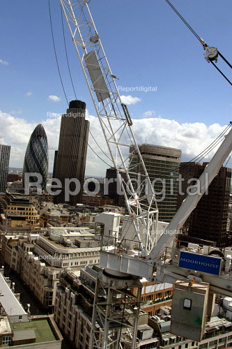 Construction site of new Moorhouse building, City of London - Joanne O'Brien - 20021024