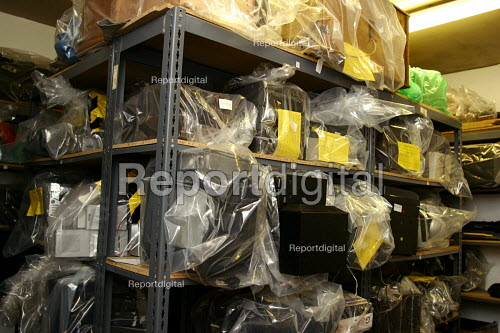 Southwark Council Noise Abatement Team store where confiscated goods are kept. London. - Joanne O'Brien - 20021024
