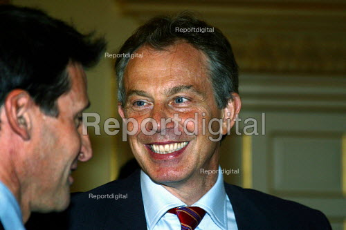 Tony Blair with Sebastian Coe at No 10 Downing Street, London - Joanne O'Brien - 20021024