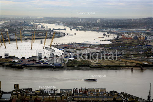 View of the City of Greenwich and the O2 Centre (formerly the Millennium Dome), London - Joanne O'Brien - 2007-11-28