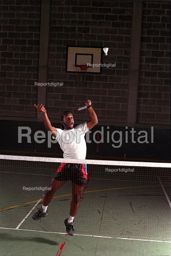 Playing badminton at university. - Roy Peters - 1995-10-10