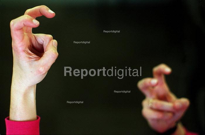 Deaf studies: signing hands. - Roy Peters - 1996-02-26
