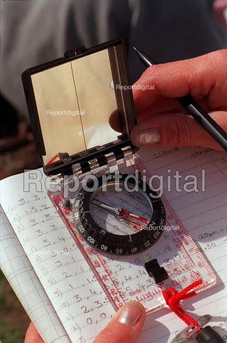 Compass and notepad. Environmental studies - Roy Peters - 1996-09-04