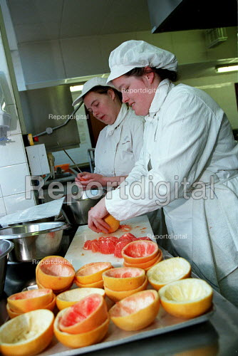 Catering students on work experience - Roy Peters - 1997-05-13