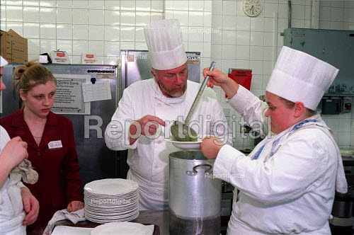 Catering students on work experience with their lecturer - Roy Peters - 1997-05-13