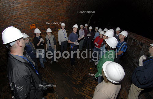 Visitors explore Brighton's Victorian sewer system on a tour, Brighton, UK. - Howard Davies - 2009-05-02
