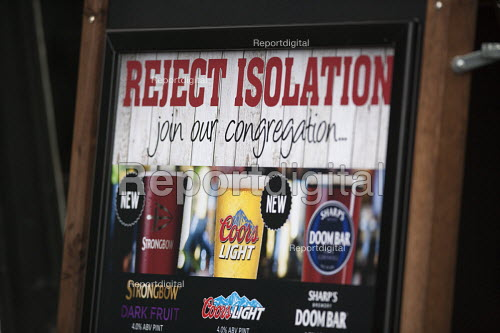 Reject isolation, join our congregation of drinkers, Wetherspoons Pub, Stratford upon Avon - John Harris - 2015-11-27