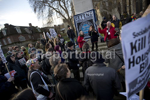 Council housing activists protest against the Housing Bill. Westminster. London. - Jess Hurd - 2016-01-05