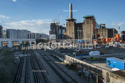 Battersea Power Station development, 480 acre Nine Elms regeneration zone, London. The zone will include two new tube stations, a new US Embassy building, and 20,000 new homes with prices of up to 9 million. - Philip Wolmuth - 2016-03-31