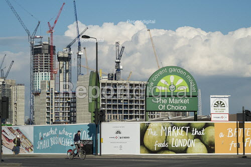 New Covent Garden fruit and vegetable market in the 480 acre Nine Elms regeneration zone, London. The zone will include two new tube stations, a new US Embassy building, and 20,000 new homes with prices up to 9 million. - Philip Wolmuth - 2016-03-31