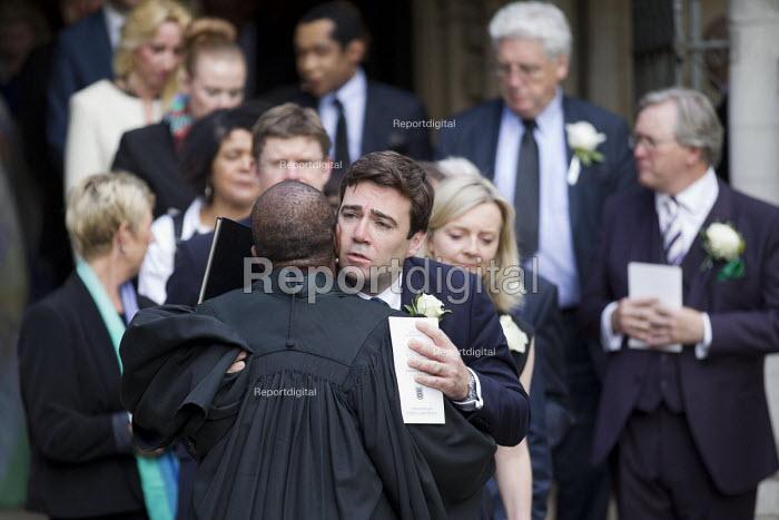 Jo Cox murder. Andy Burnham, MPs attending a service remembering murdered Labour MP Jo Cox, St Margaret's Church London - Jess Hurd - 2016-06-20