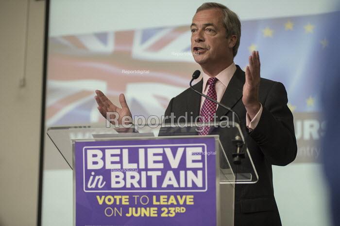 Nigel Farage. UKIP EU referendum press conference, London. - Philip Wolmuth - 2016-06-22