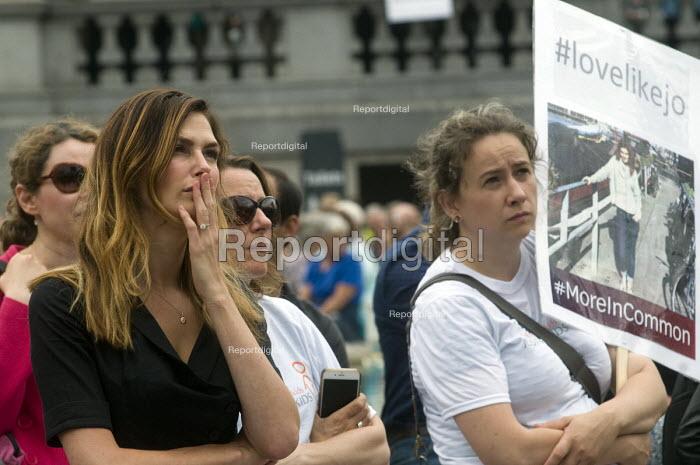 Memorial event to celebrate the life of murdered Labour MP, Jo Cox. Love Like Jo, Trafalgar Square, London. - Stefano Cagnoni - 2016-06-22