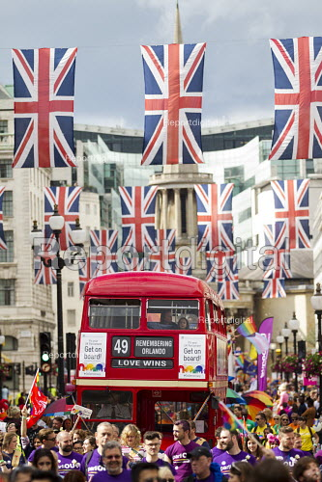 Love Wins, Remembering Orlando, routemaster bus, Pride in London Parade 2016 - Jess Hurd - 2016-06-25