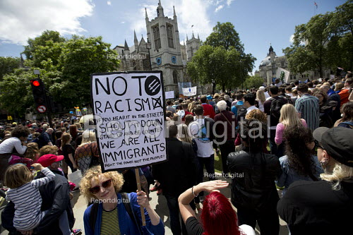 Anti racist placard, March for Europe against the Brexit EU referendum result, Central London - Jess Hurd - 2016-07-02