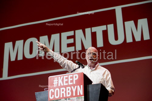 Matt Wrack, FBU speaking at a Momentum, KeepCorbyn Labour Party rally for Jeremy Corbyn, Troxy, East London. - Jess Hurd - 2016-07-06