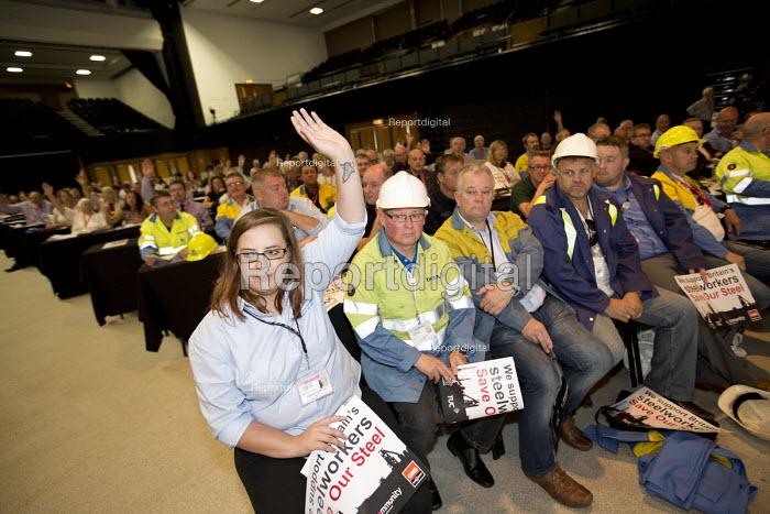 Charlotte Upton Unite Scunthorpe, Tata Steel - Save Our Steel Campaign, TUC conference Brighton. - Jess Hurd - 2016-09-11