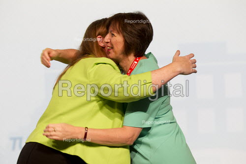 Frances O'Grady and Angela Rayner MP speaking TUC conference Brighton. - Jess Hurd - 2016-09-13
