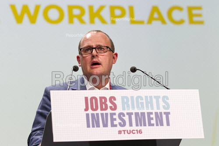Paul Nowak speaking TUC conference Brighton. - Jess Hurd - 2016-09-13
