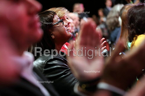 Diane Abbott MP as Jeremy Corbyn is elected leader of the Labour Party for a second time, Liverpool. - Jess Hurd - 2016-09-24