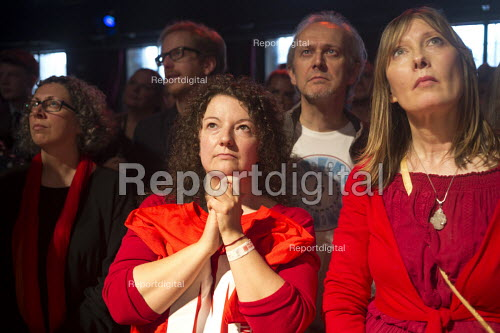 Tension as the victory of Jeremy Corbyn in Labour Party leadership election is about to be announced, The World Transformed Momentum conference, Liverpool - John Harris - 2016-09-24