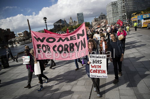 Ken Loach speaking, march to save the Womens Hospital from closure, Labour Party conference Liverpool. - Jess Hurd - 2016-09-25
