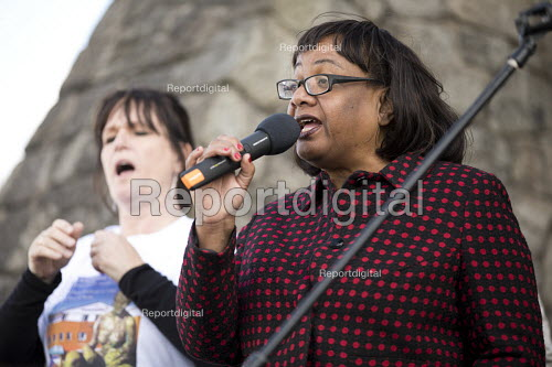 Diane Abbott speaking, march to save the Womens Hospital from closure, Labour Party conference Liverpool. - Jess Hurd - 2016-09-25