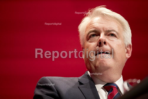 Carwyn Jones MP, Labour Party conference Liverpool. - Jess Hurd - 2016-09-25