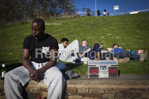 Young people smoking cannabis to mark 420. Sheffield, South Yorkshire - Connor Matheson - 2016-04-20