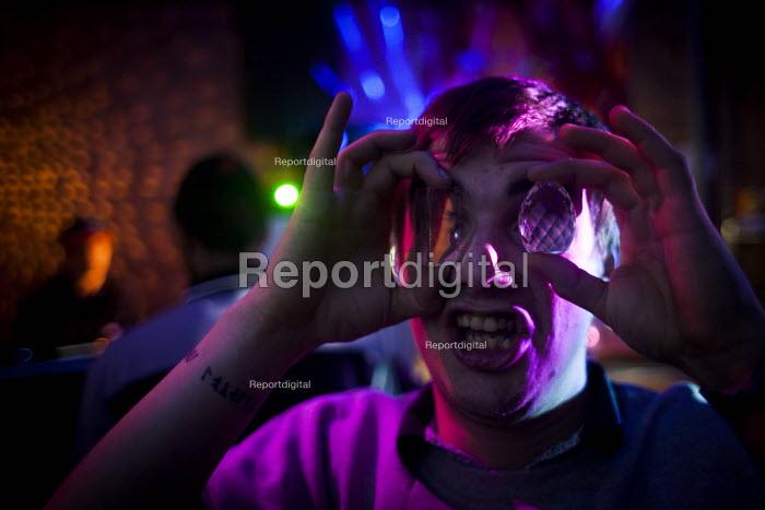 Bassline night at Golden Harvest headshop. Sheffield city center, South Yorkshire - Connor Matheson - 2016-06-04