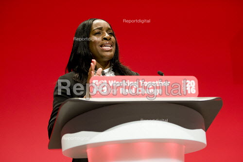 Kate Osamor MP speaking at Labour Party conference Liverpool. - Jess Hurd - 2016-09-26