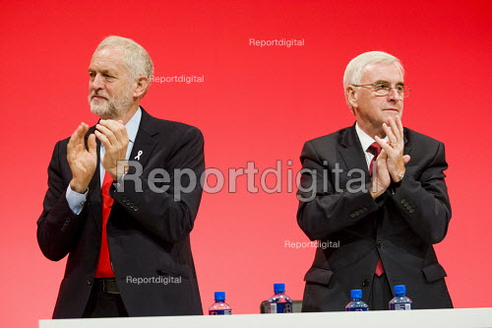 Jeremy Corbyn and John McDonnell Labour Party conference Liverpool. - Jess Hurd - 2016-09-26