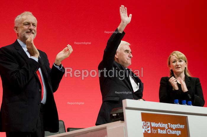 John McDonnell and Jeremy Corbyn, Labour Party conference Liverpool. - Jess Hurd - 2016-09-26